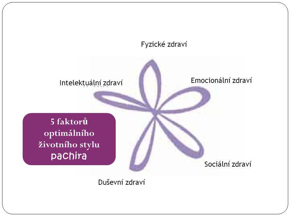 5 faktorů optimálního životního stylu pachira Fyzické zdraví