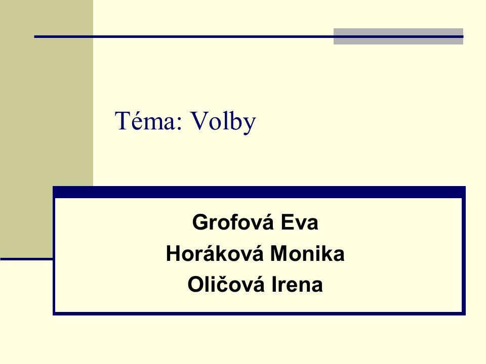 Grofová Eva Horáková Monika Oličová Irena