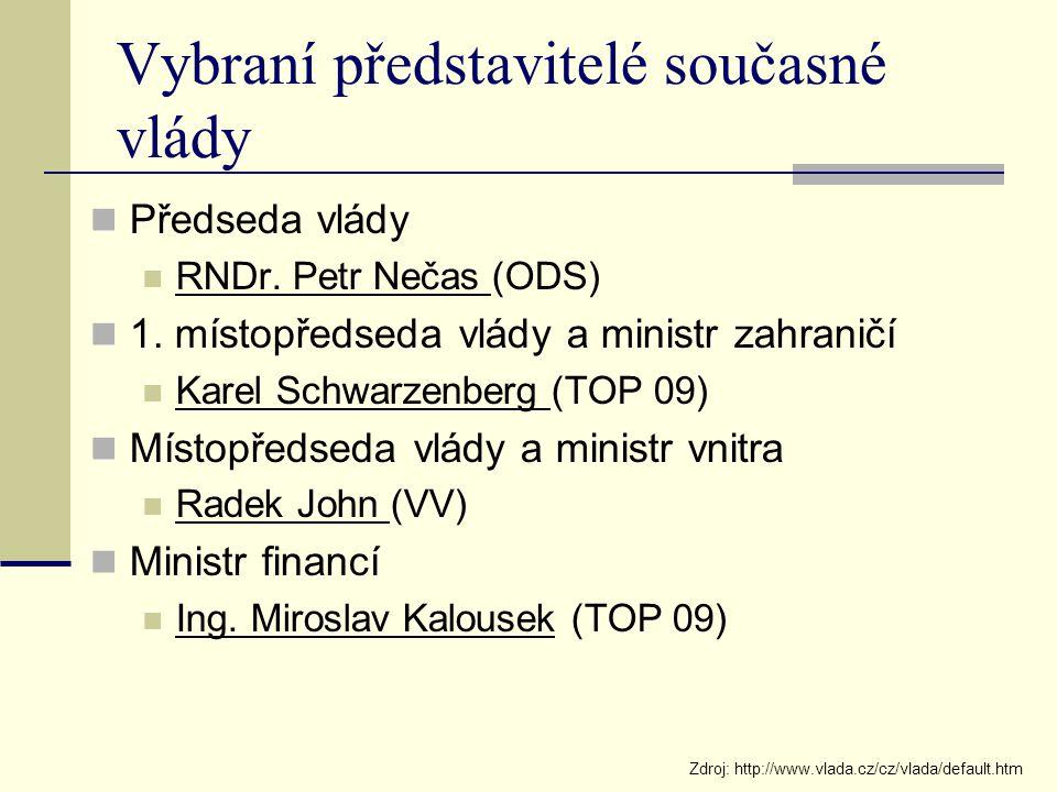 Vybraní představitelé současné vlády
