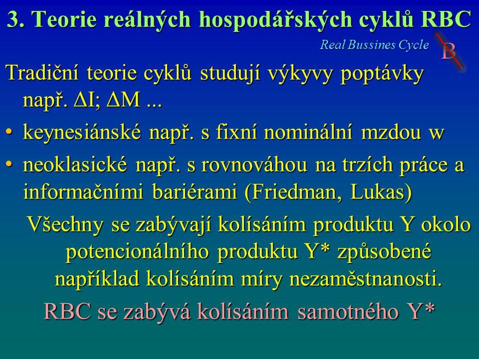 3. Teorie reálných hospodářských cyklů RBC