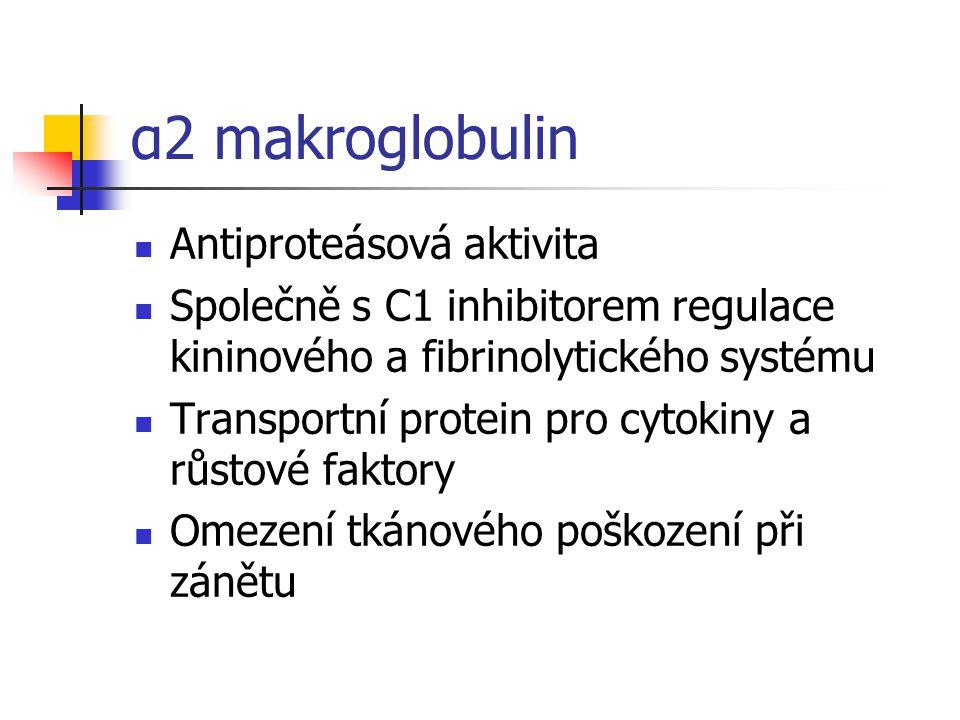 α2 makroglobulin Antiproteásová aktivita