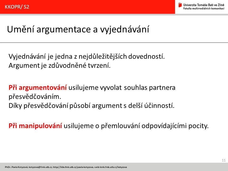 Umění argumentace a vyjednávání