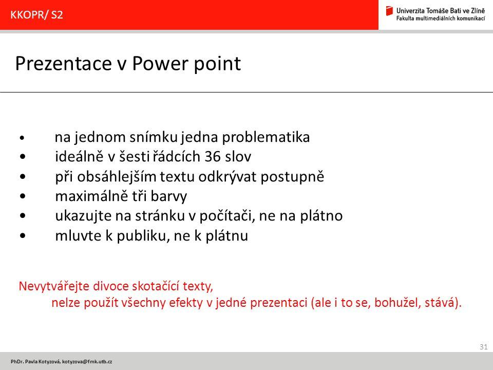 Prezentace v Power point