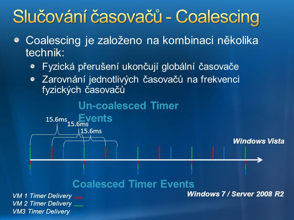 Slučování časovačů - Coalescing