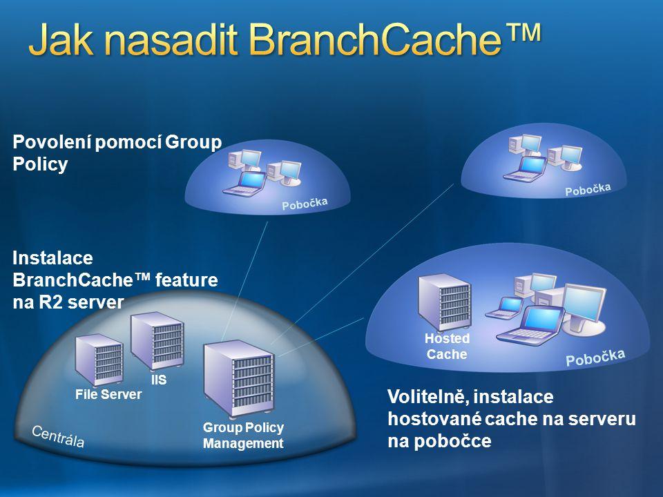 Jak nasadit BranchCache™