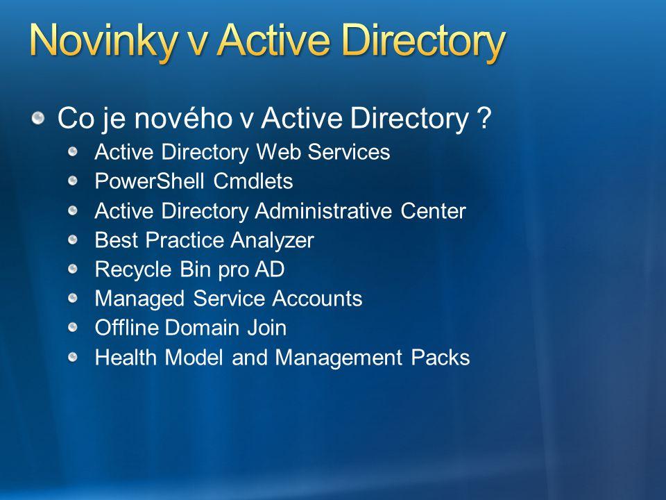 Novinky v Active Directory