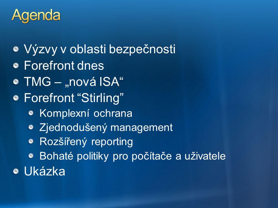 "Agenda Výzvy v oblasti bezpečnosti Forefront dnes TMG – ""nová ISA"