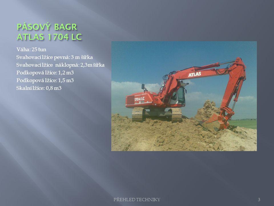 PÁSOVÝ BAGR ATLAS 1704 LC Váha: 25 tun