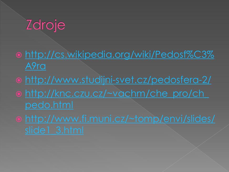 Zdroje http://cs.wikipedia.org/wiki/Pedosf%C3%A9ra