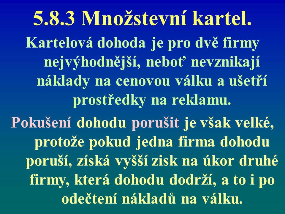 5.8.3 Množstevní kartel.
