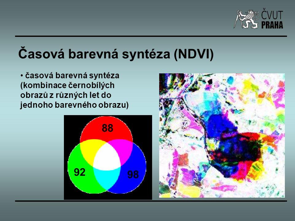 Časová barevná syntéza (NDVI)
