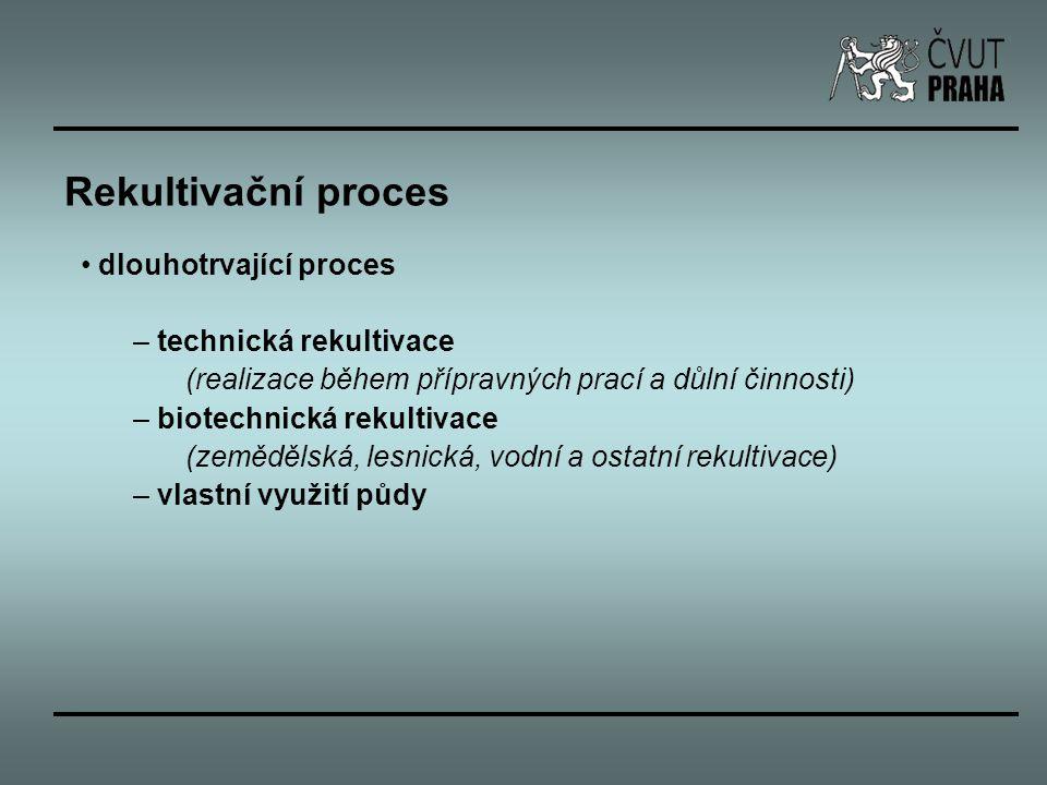 Rekultivační proces dlouhotrvající proces technická rekultivace