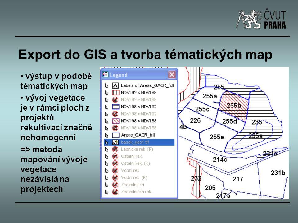 Export do GIS a tvorba tématických map