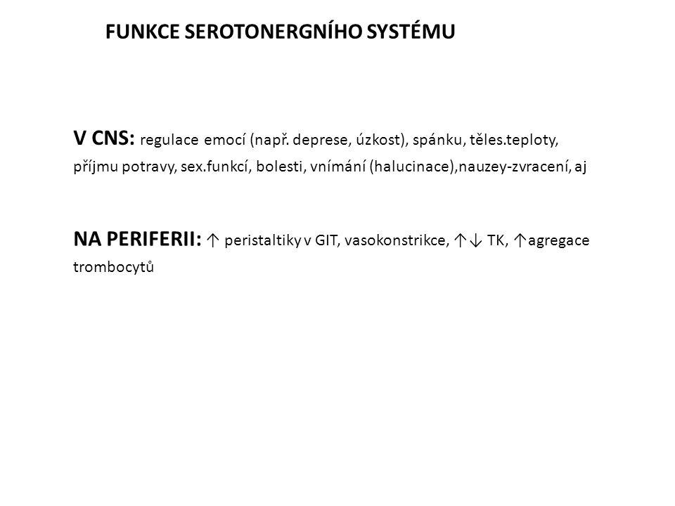 FUNKCE SEROTONERGNÍHO SYSTÉMU