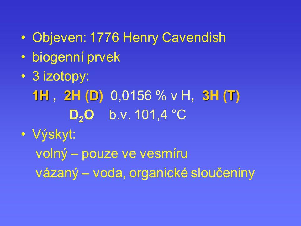 Objeven: 1776 Henry Cavendish