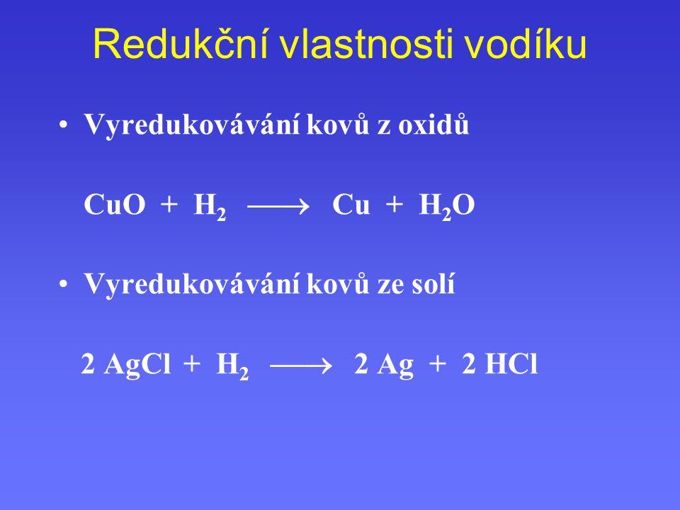 Redukční vlastnosti vodíku