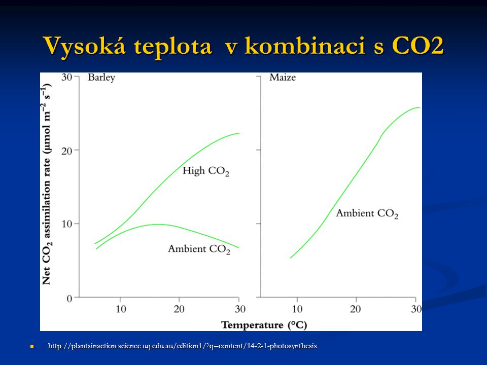 Vysoká teplota v kombinaci s CO2