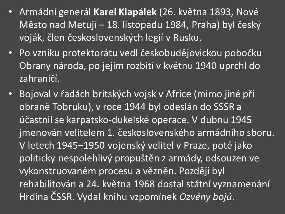 Armádní generál Karel Klapálek (26