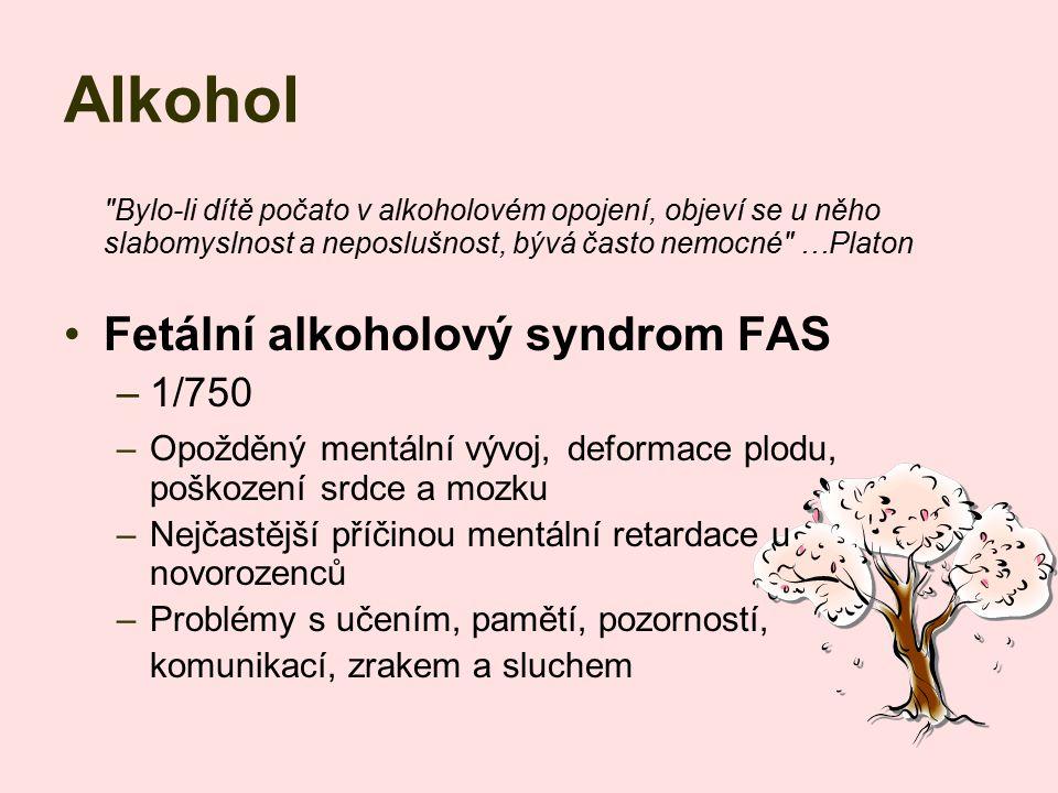 Alkohol Fetální alkoholový syndrom FAS 1/750