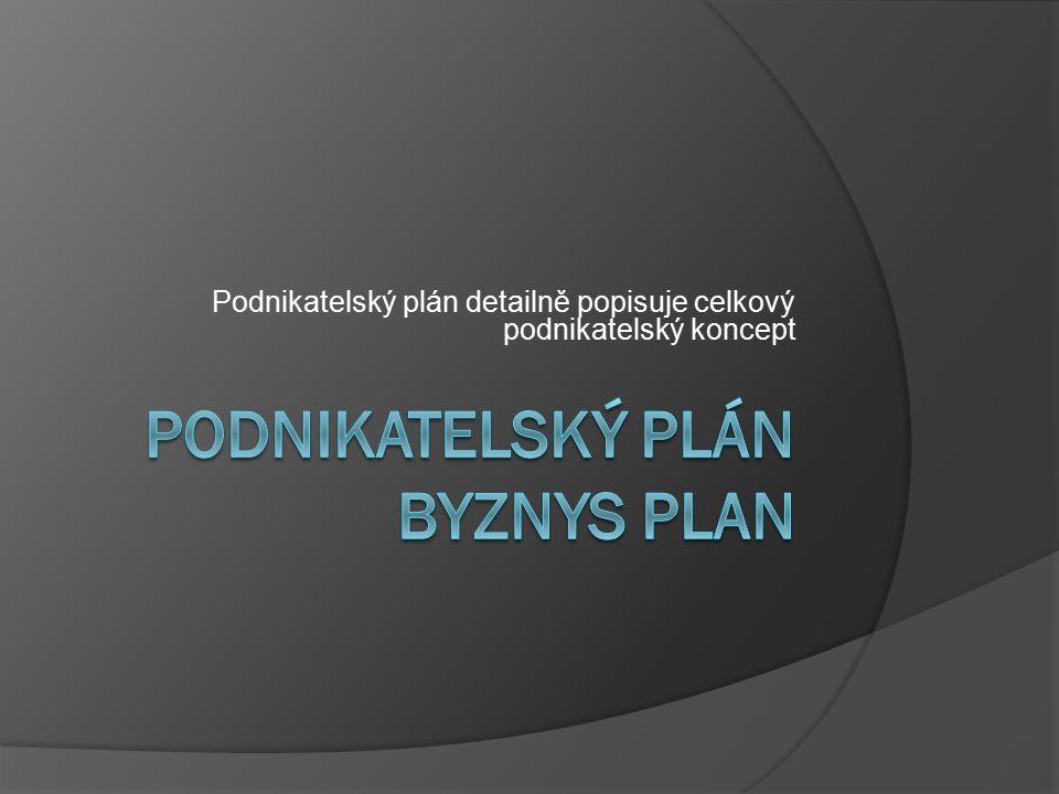 Podnikatelský plán Byznys plan