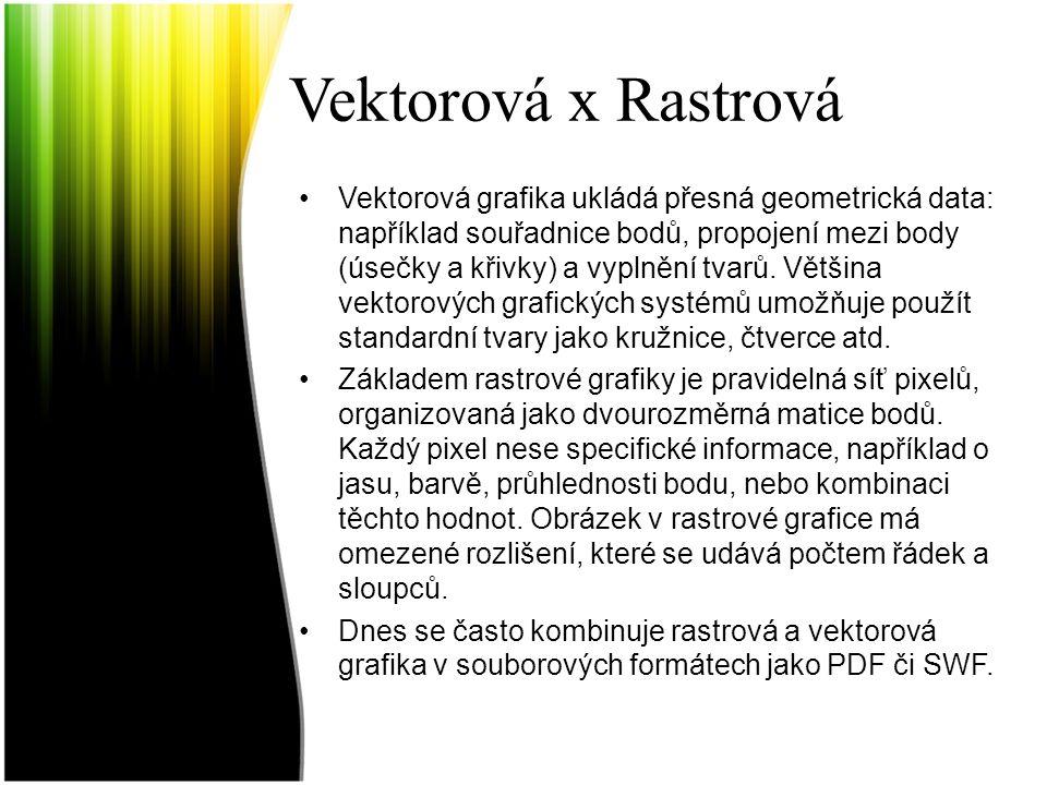 Vektorová x Rastrová