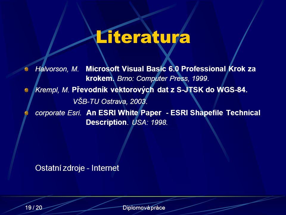 Literatura VŠB-TU Ostrava, 2003. Ostatní zdroje - Internet