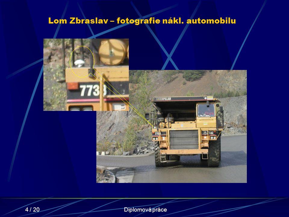 Lom Zbraslav – fotografie nákl. automobilu