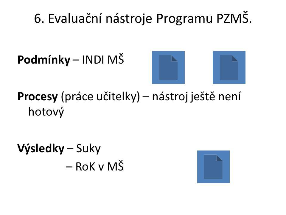 6. Evaluační nástroje Programu PZMŠ.