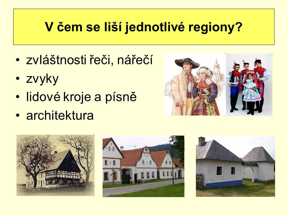 V čem se liší jednotlivé regiony