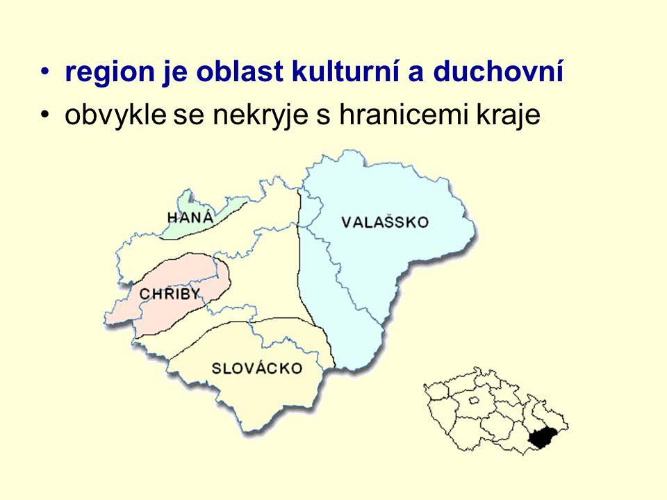 region je oblast kulturní a duchovní