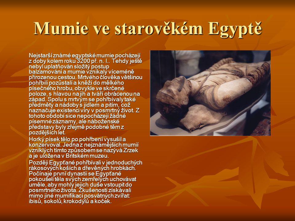 Mumie ve starověkém Egyptě