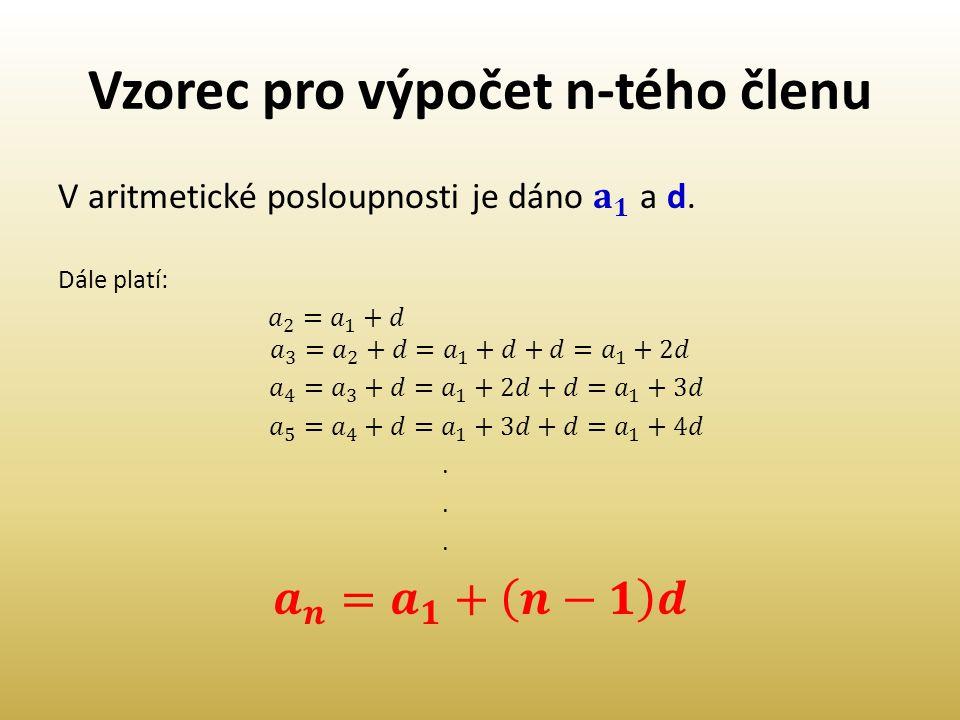 Vzorec pro výpočet n-tého členu