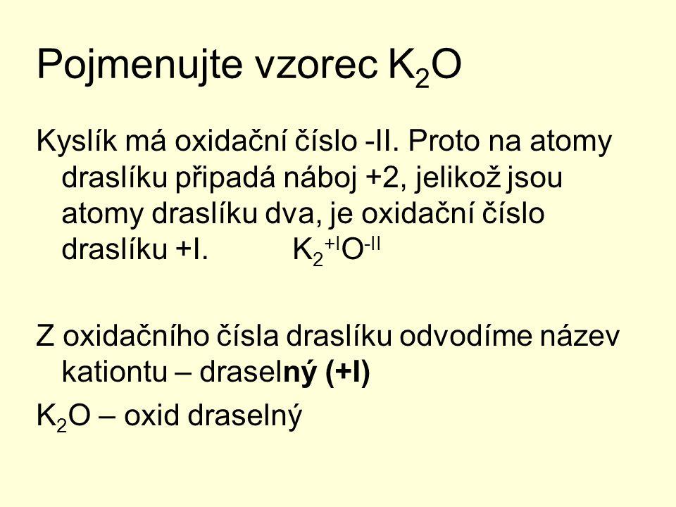 Pojmenujte vzorec K2O