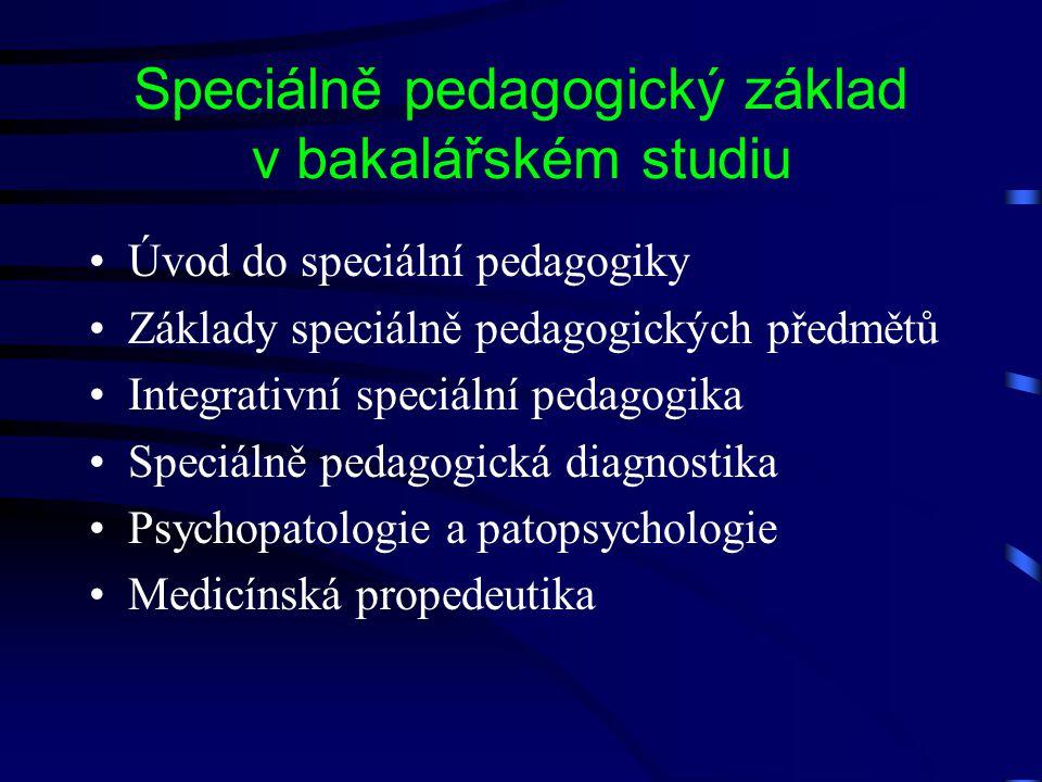 Speciálně pedagogický základ v bakalářském studiu