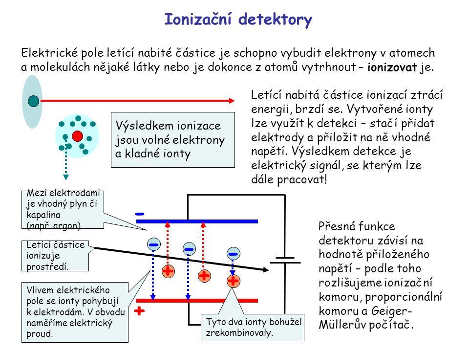 - - - - + + + + Ionizační detektory