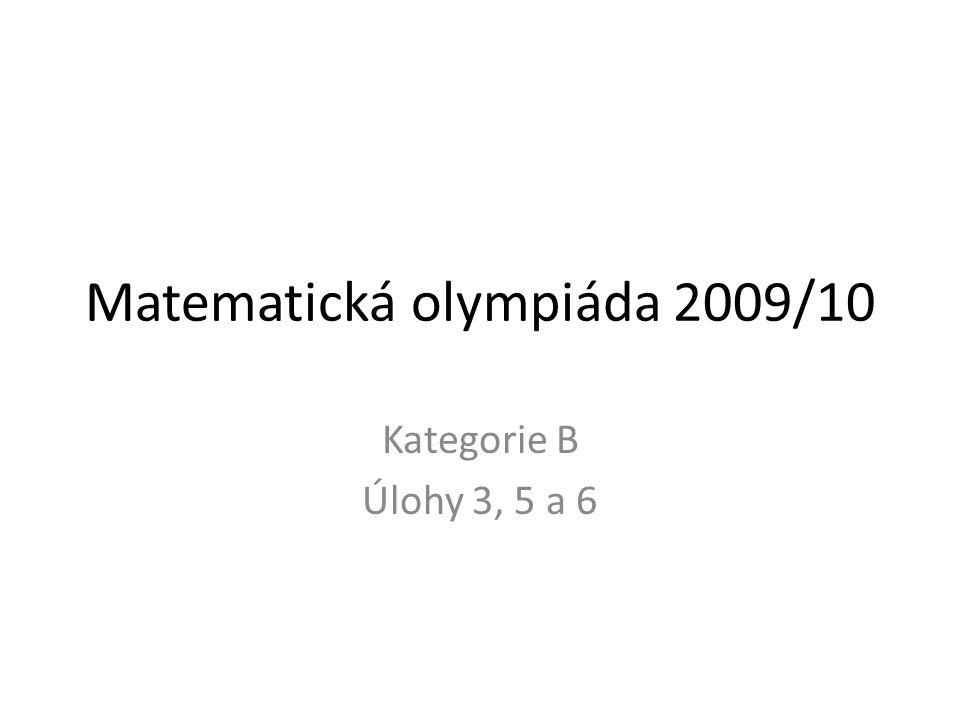 Matematická olympiáda 2009/10
