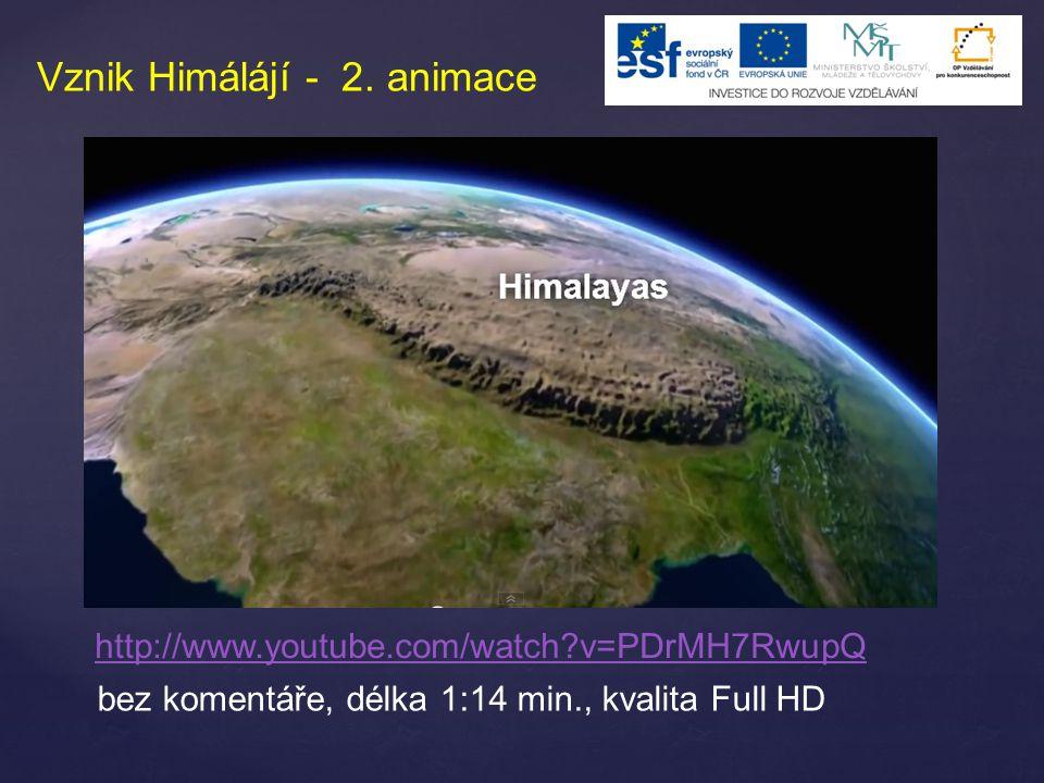 Vznik Himálájí - 2. animace