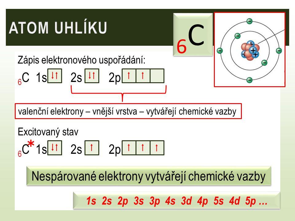 Nespárované elektrony vytvářejí chemické vazby