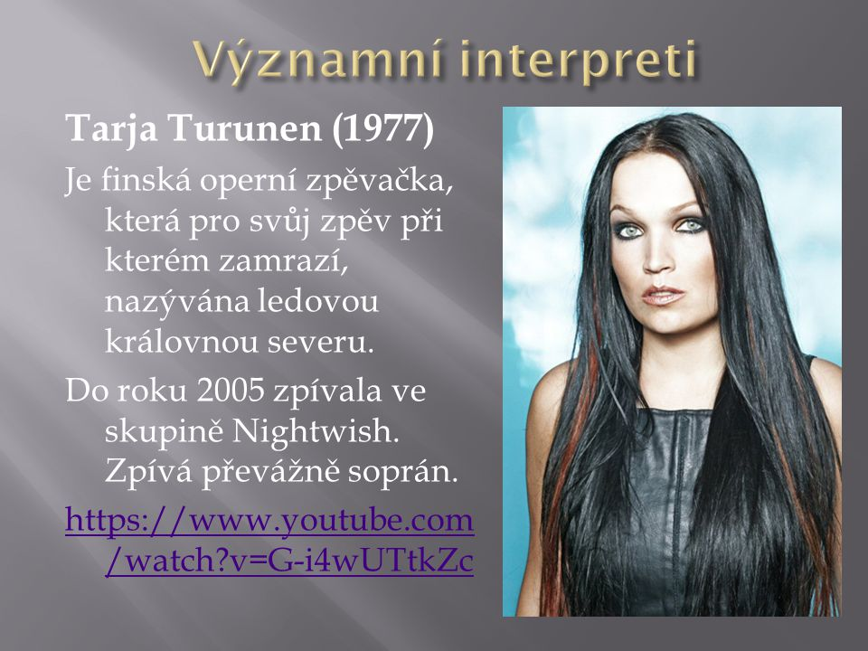 Významní interpreti Tarja Turunen (1977)
