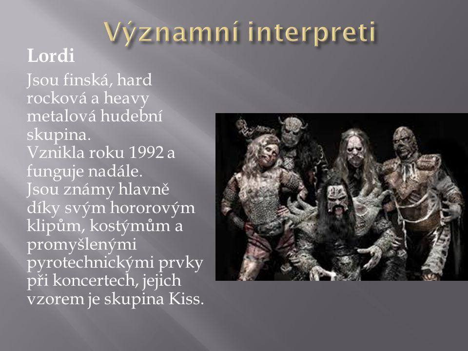 Významní interpreti Lordi