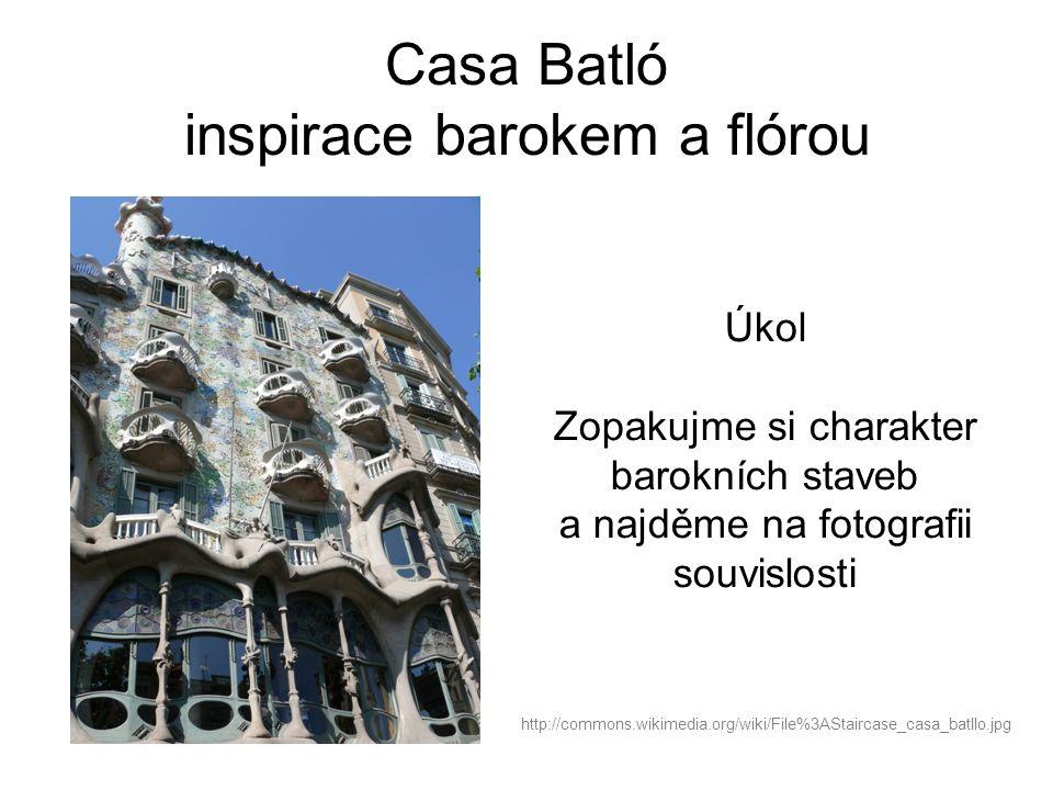 Casa Batló inspirace barokem a flórou