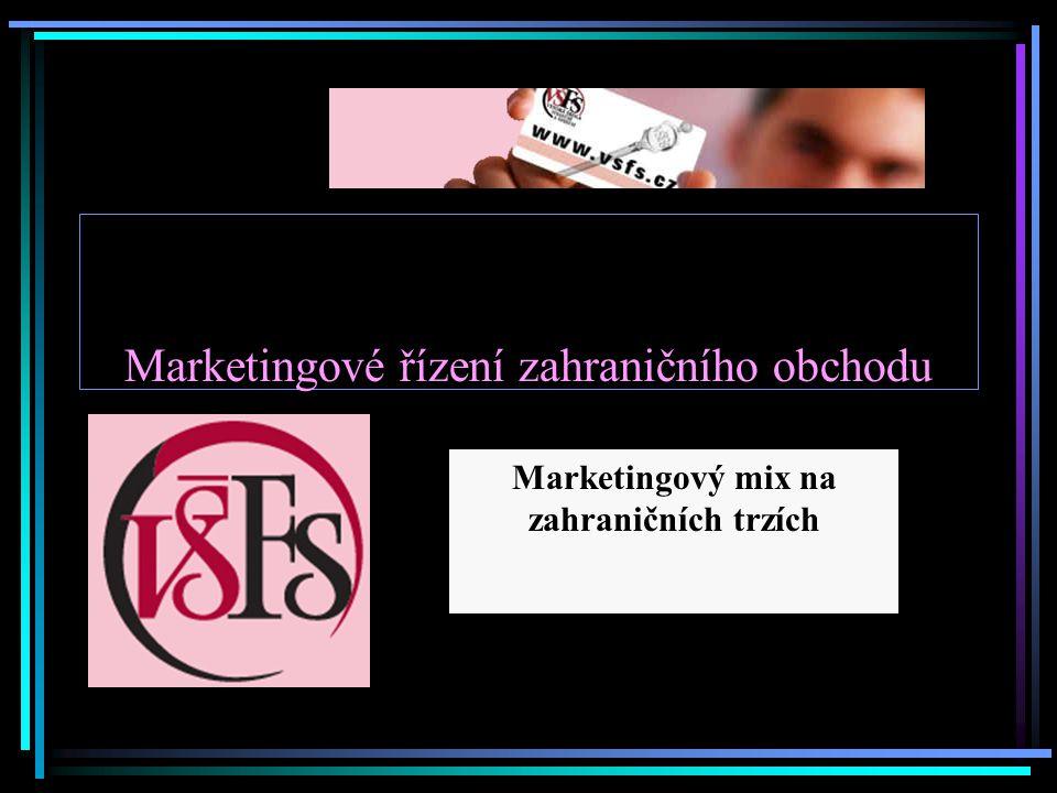 Marketingové řízení zahraničního obchodu