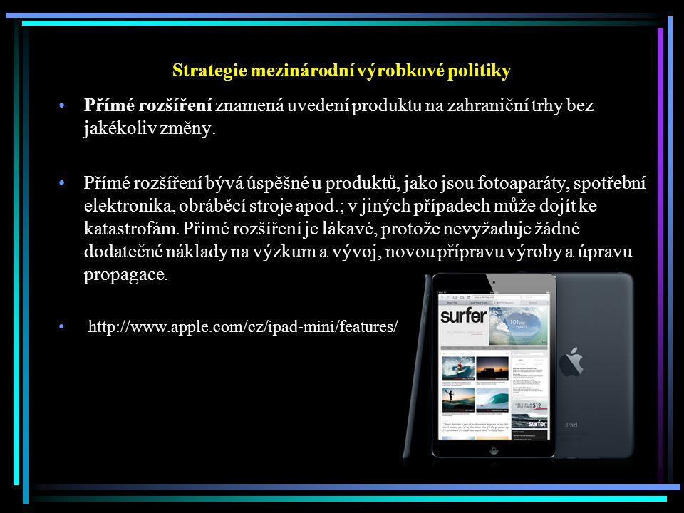 Strategie mezinárodní výrobkové politiky