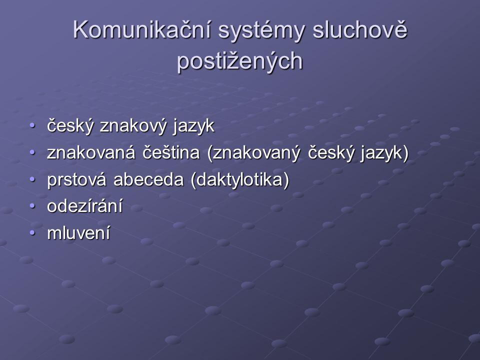 Komunikační systémy sluchově postižených