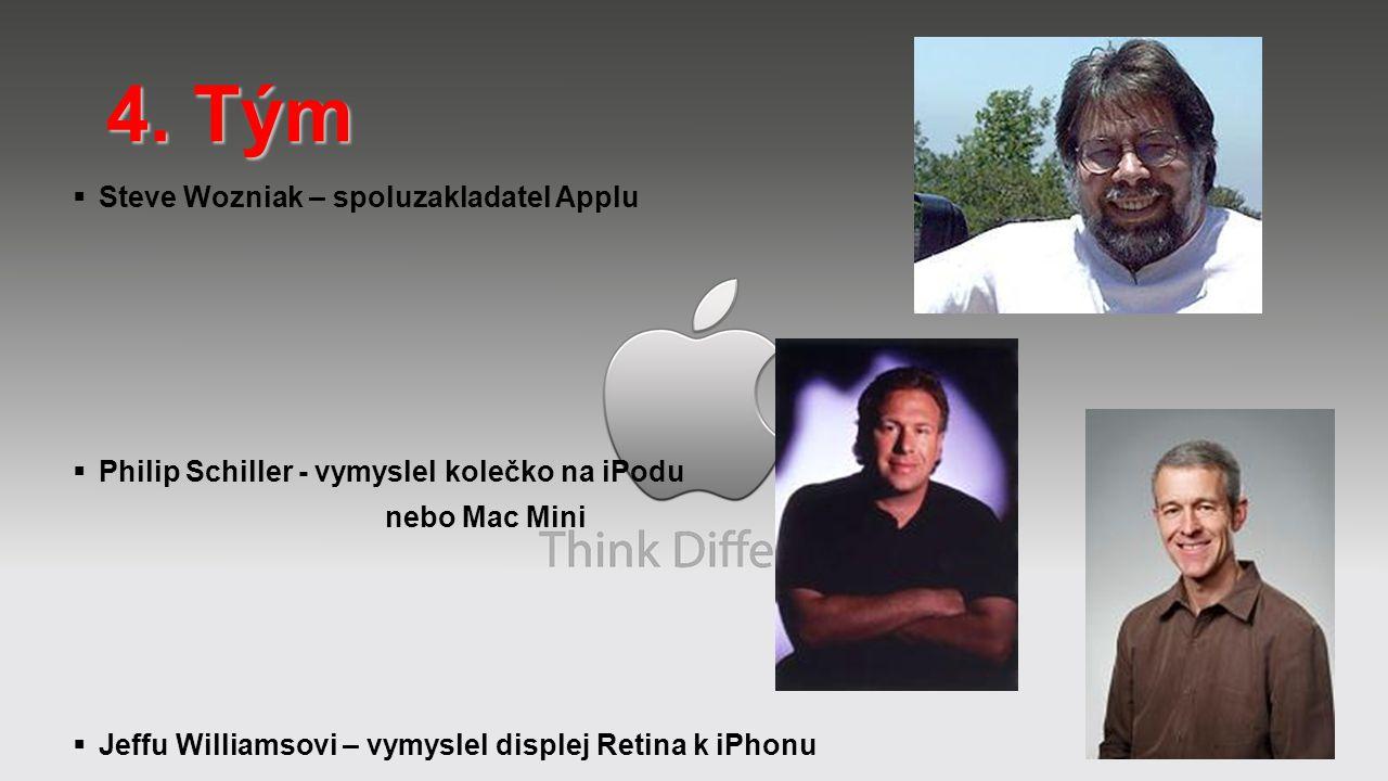 4. Tým Steve Wozniak – spoluzakladatel Applu