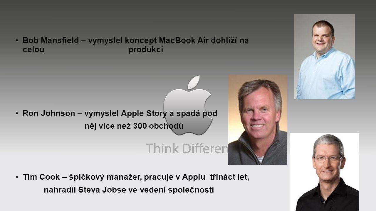 Bob Mansfield – vymyslel koncept MacBook Air dohlíží na celou produkci