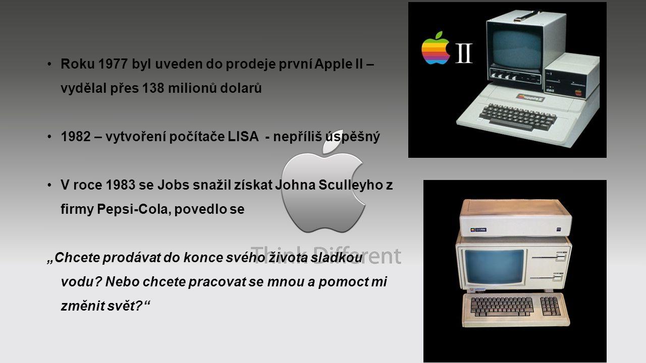 Roku 1977 byl uveden do prodeje první Apple II – vydělal přes 138 milionů dolarů