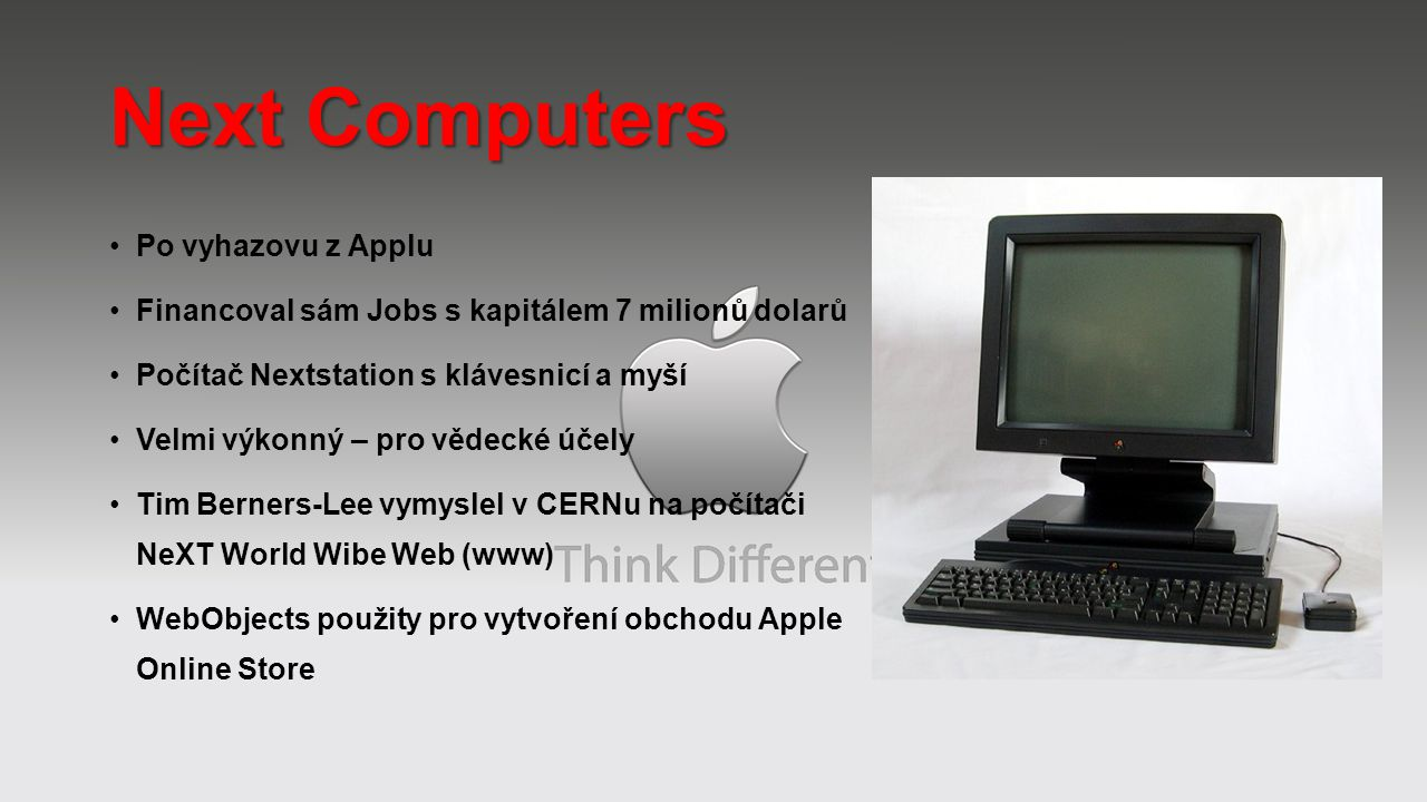 Next Computers Po vyhazovu z Applu