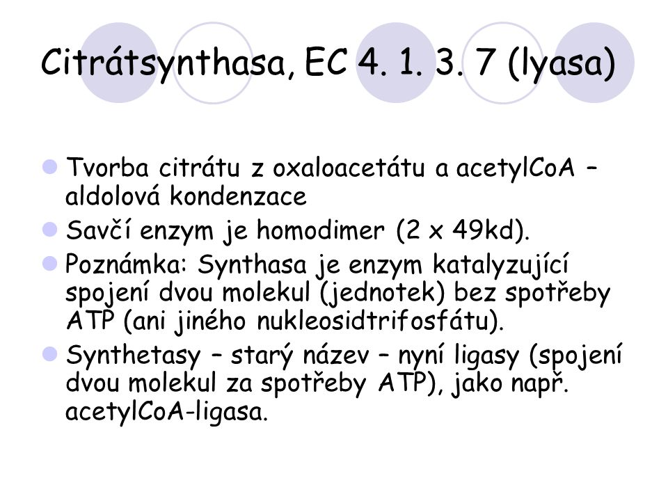 Citrátsynthasa, EC 4. 1. 3. 7 (lyasa)