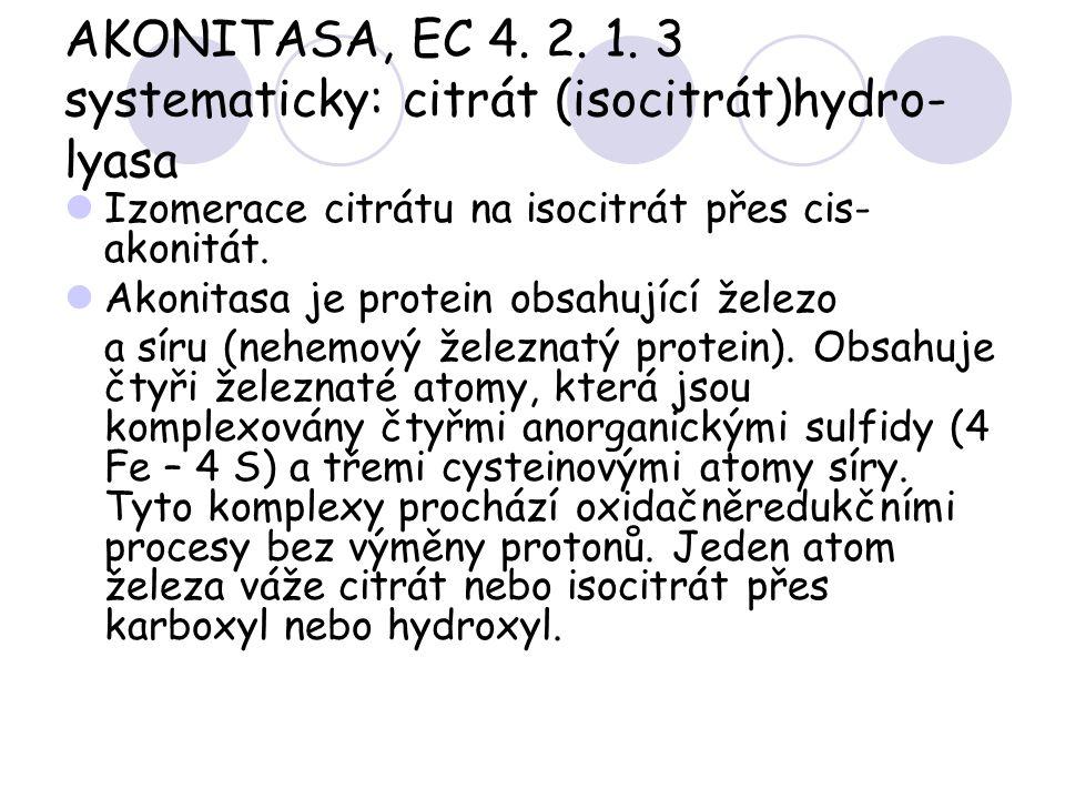 AKONITASA, EC 4. 2. 1. 3 systematicky: citrát (isocitrát)hydro-lyasa
